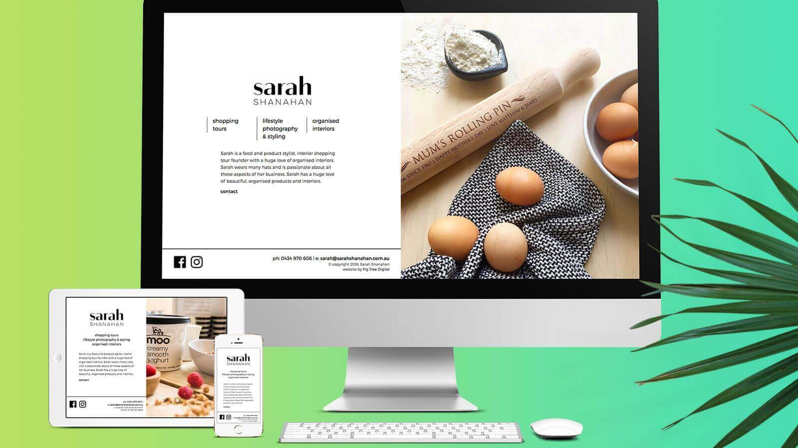 Sarah Shanahan Website Development