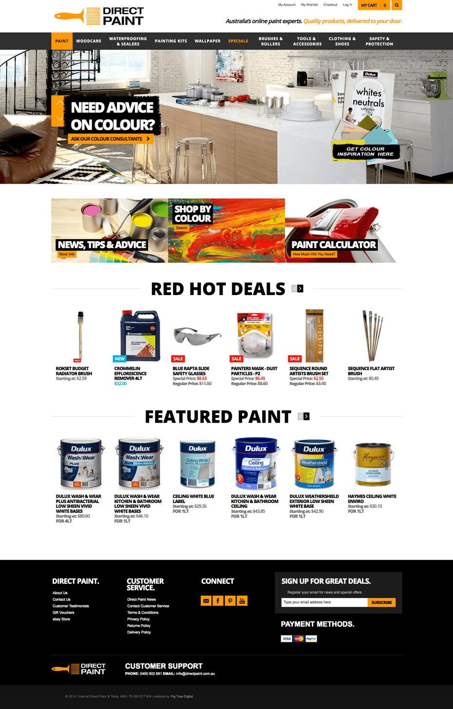 Direct Paint - eCOMMERCE website