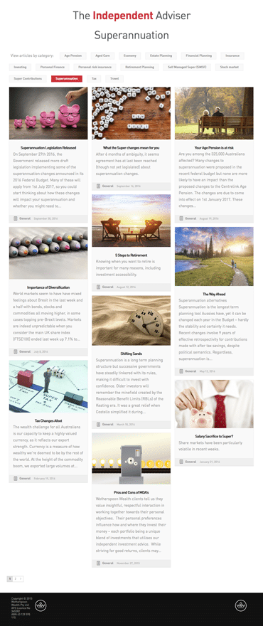 Wotherspoon Wealth - Website Development- gallery