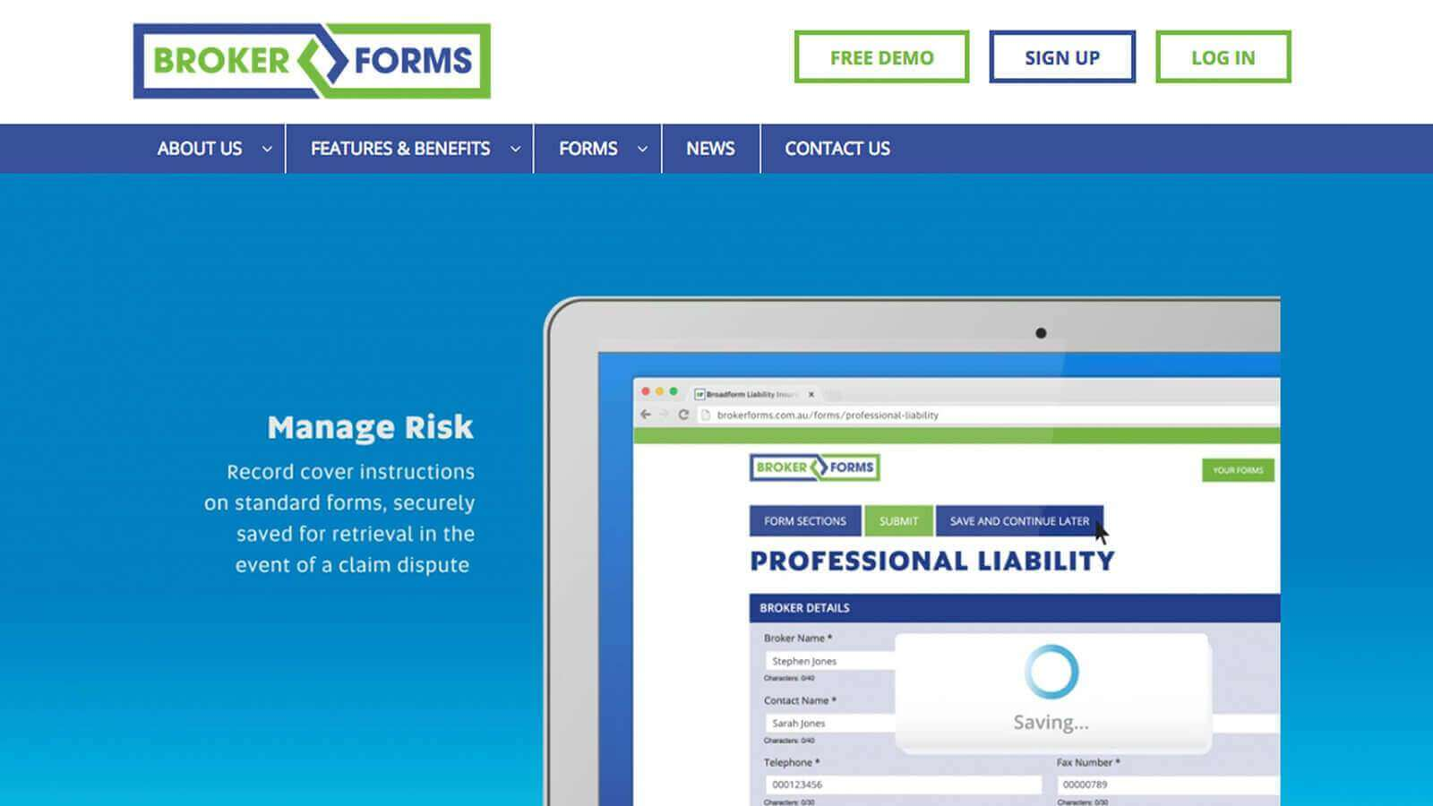 Broker Forms Website Development