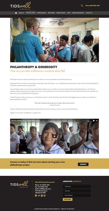 Tidswell Philanthropy