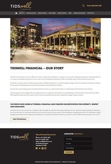 Tidswell Our Story