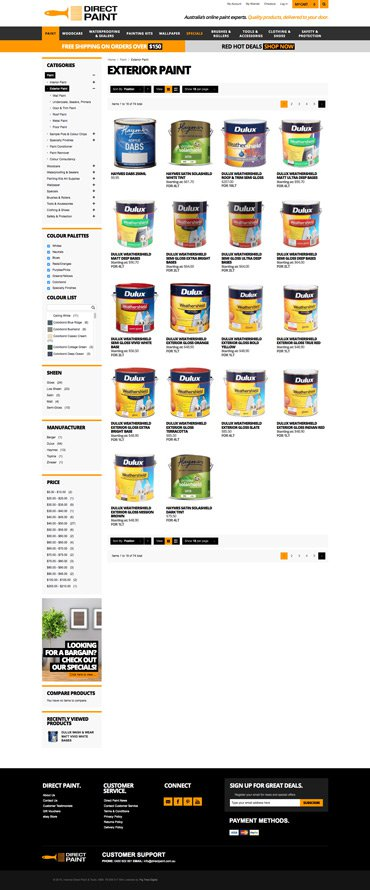 Direct Paint - eCOMMERCE website