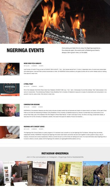 Ngeringa - Website - Events