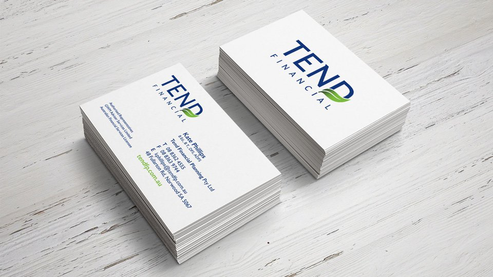 Tend Financial - Business Card - Print Design