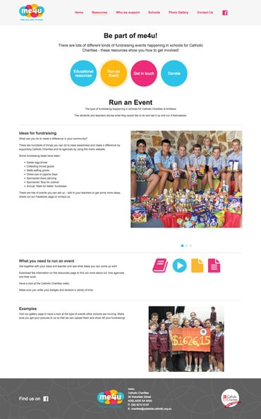 Me4U - Website design