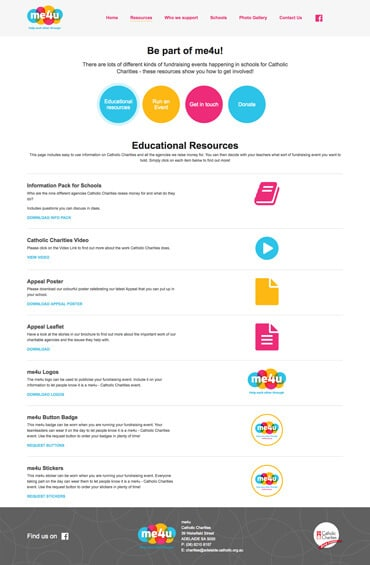 Me4U - Website design