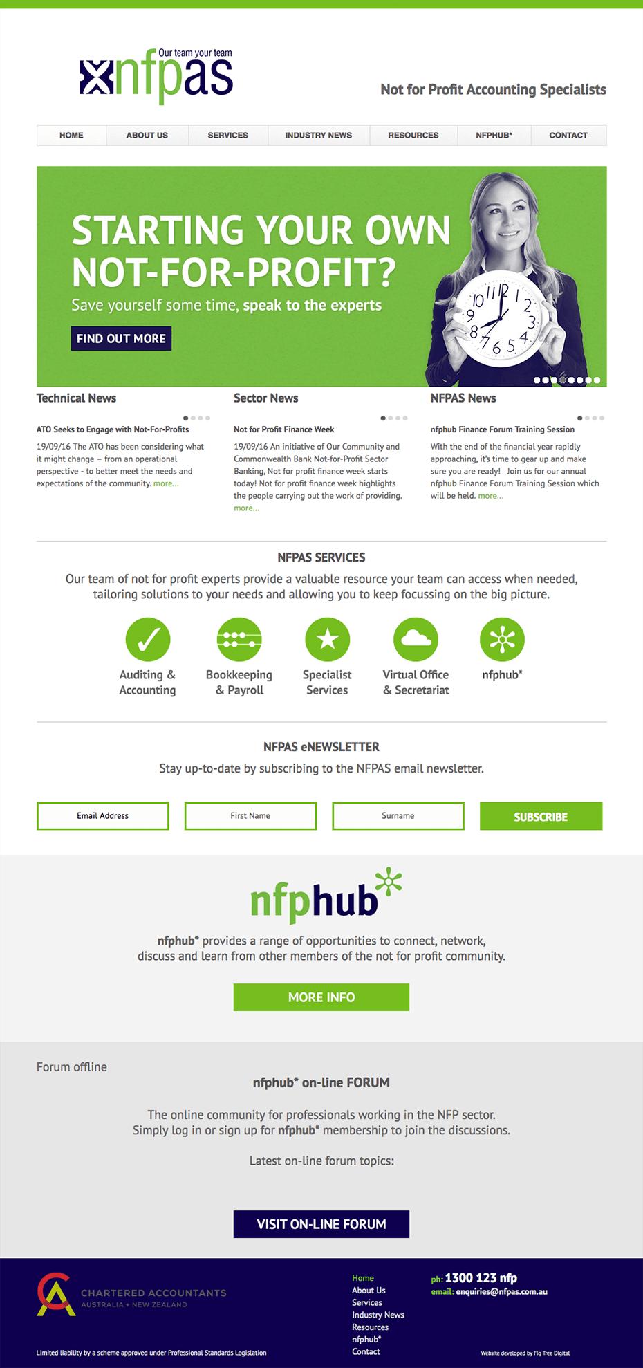 NFPAS - Website - Home