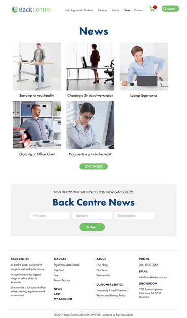 Fig Tree Digital Back Centre Website Design News