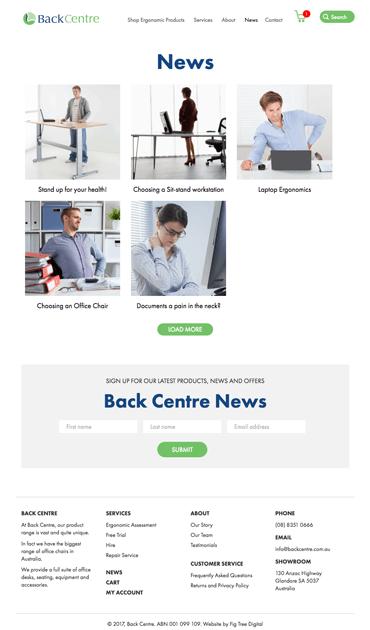 Fig Tree Digital Back Centre Website Design News