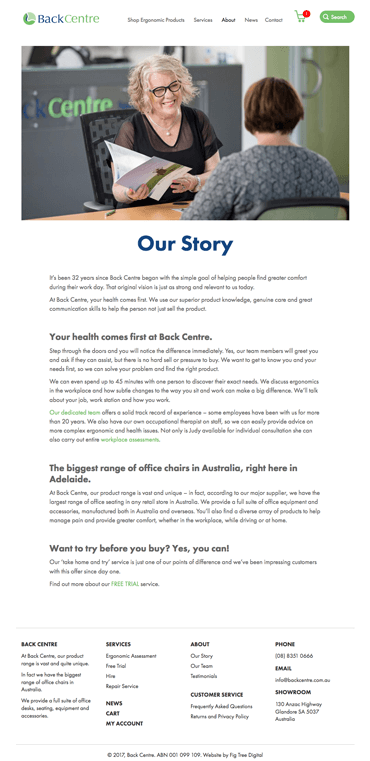 Fig Tree Digital Back Centre Website Design Our Story
