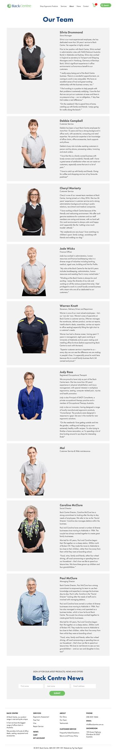 Fig Tree Digital Back Centre Website Design Our Team