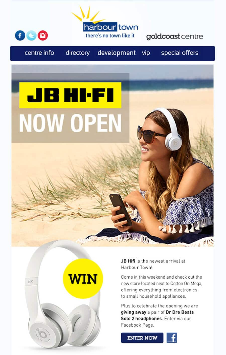 Harbour Town Gold Coast Email Marketing