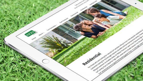 Websites - Hicks Turf - Website Design