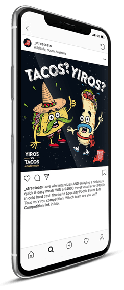 Street Eats illustration Design Social Media Post