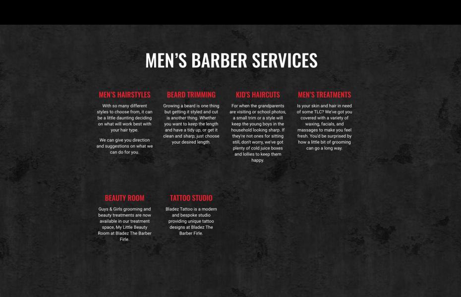 mens services copywriting