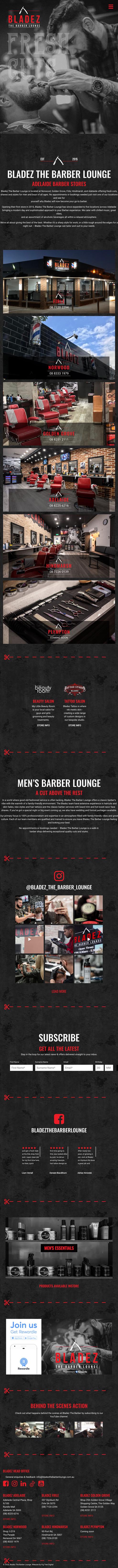 Bladez Website