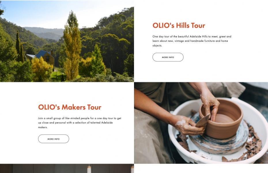 olio interiors home page experiences